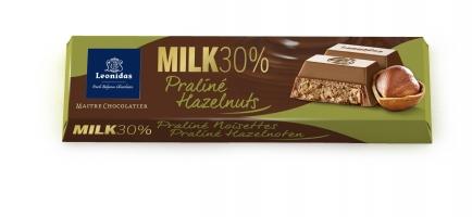 """Млечна чоколада со """"praliné"""" од лешник - 50 g"""