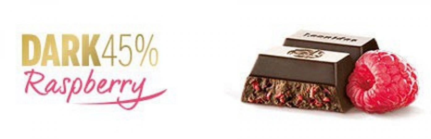 Црна чоколада со малина - 50 g