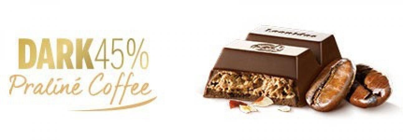 "Црна чоколада ""praliné""со кафе - 50 g"