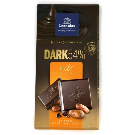 "Црна чоколада со печени зрна на какао - ""NIBS"" - 100 g"