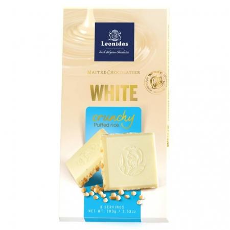Бела чоколада со експандиран ориз - 100 g