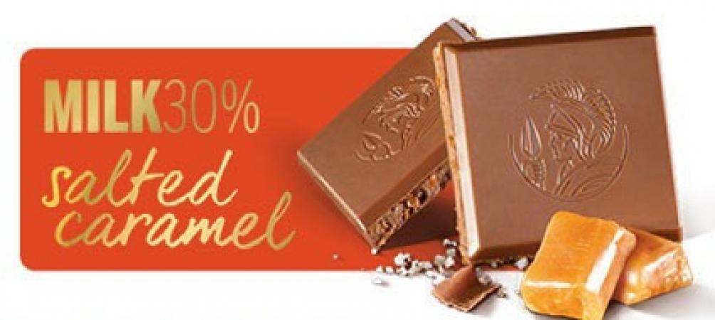 Млечна чоколада со солен карамел - 100 g